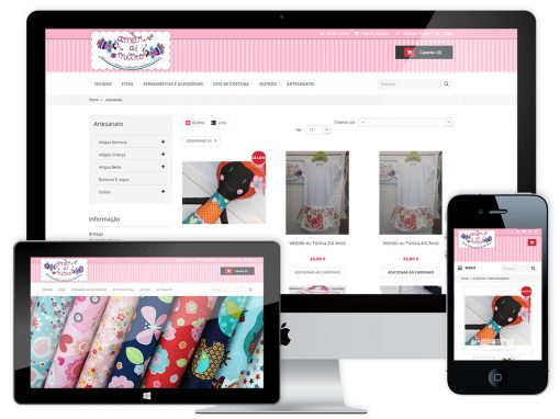 Website Design Loja Online – Amor a Metro