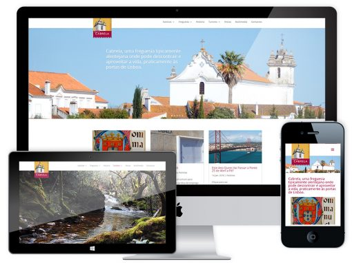 Website Design – Junta de Freguesia de Cabrela